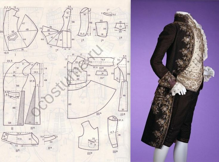 .men's late 1700's.