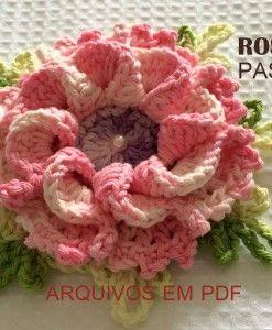 Flor rosa enrolada