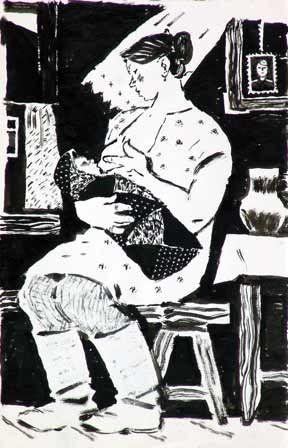 "Вечерский Ю.М. ""Первенец"". 1962 г. Y.Vecherskiy. Firstborn. 1962"
