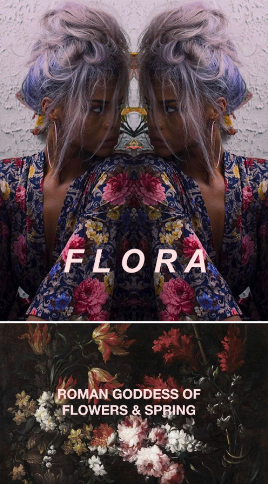 """In Roman mythology, Flora was a Sabine-derived goddess of flowers and of the season of spring- a symbol for nature and flowers (especially the may-flower). While she was otherwise a relatively minor figure in Roman mythology, being one among several fertility goddesses, her association with the spring gave her particular importance at the coming of springtime, as did her role as goddess of youth."" #myth"