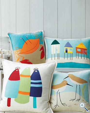 Love the crab and beach huts! :)