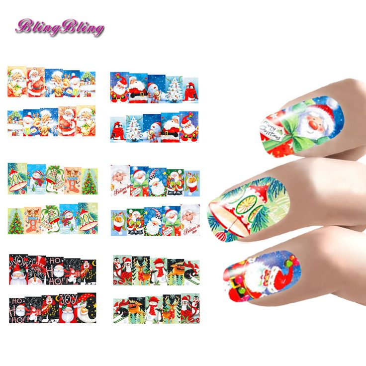 Xmas Nail Art Christmas Nail Sticker Sets Water Decals Santa Claus Design Full Nail Wraps Decoration Nails Accessoires New Year #>=#>=#>=#>=#> Click on the pin to check out discount price, color, size, shipping, etc. Save and like it!