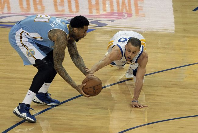 Denver Nuggets Wilson Chandler, Golden State Warriors Stephen Curry