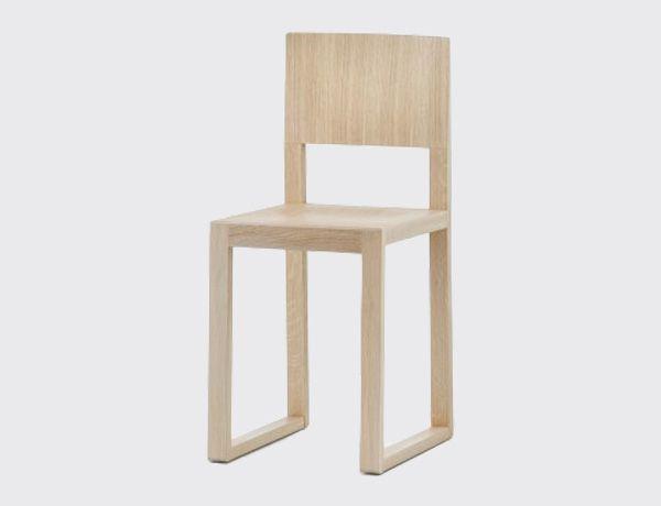 Silla brera roble aclarado silla de comedor de madera for Sillas comedor roble