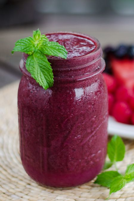 This paleo watermelon berry smoothie is light, refreshing and the perfect taste of summer. It's dairy-free, nut-free, coconut free, and refined sugar-free.