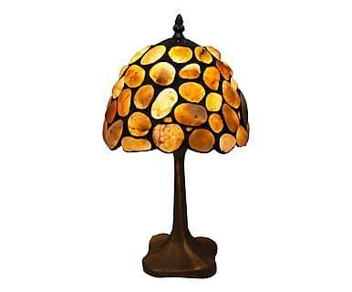Lampada da tavolo in zinco e pietre Stone, 20x37 cm