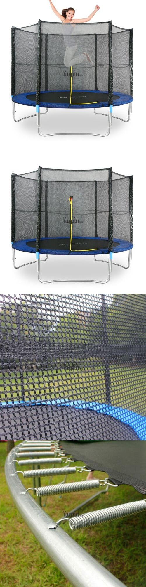 Trampolines 57275: Round 10Ft Trampoline Safety Enclosure Bounce Jump Net Spring Pad Ladder Garden BUY IT NOW ONLY: $169.97