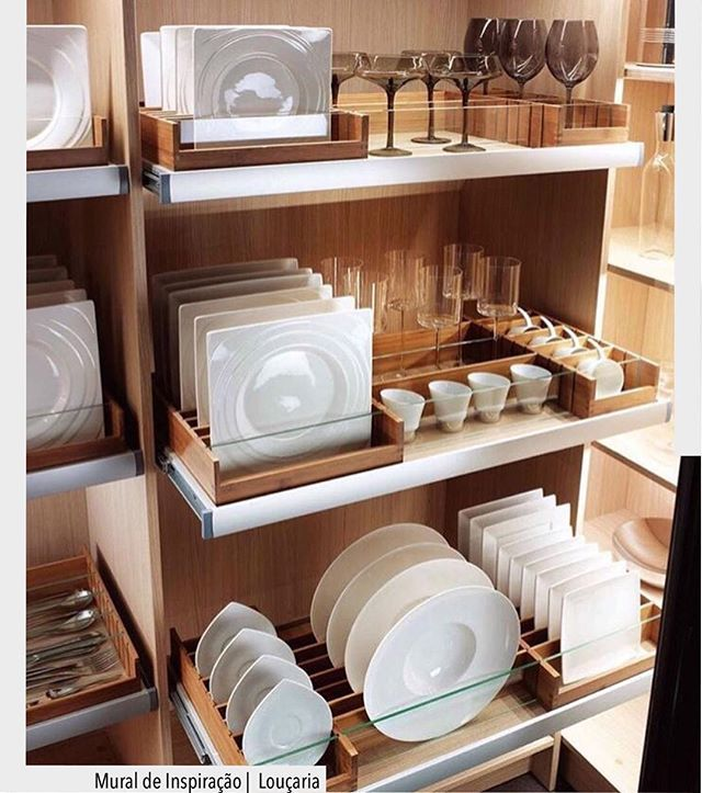 Plate etc storage in pantry