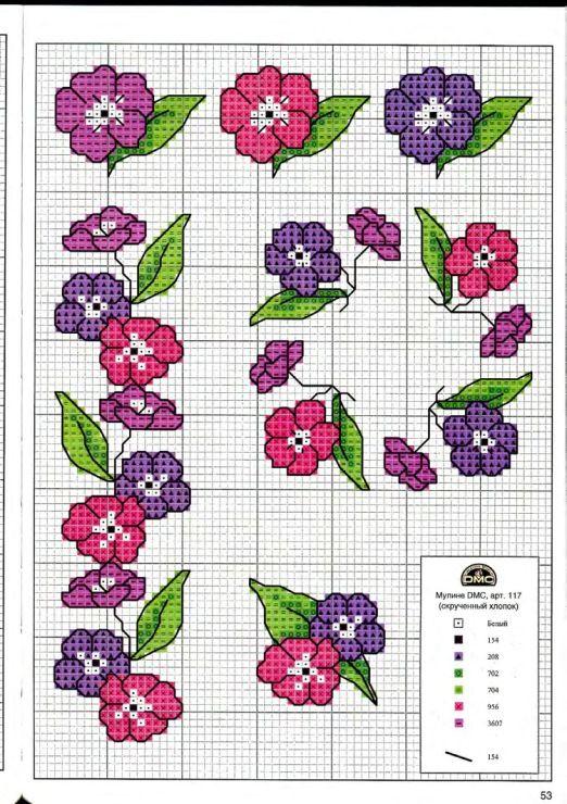 Gallery.ru / Фото #24 - Вышиваем крестом цветы, букеты, деревья - tymannost