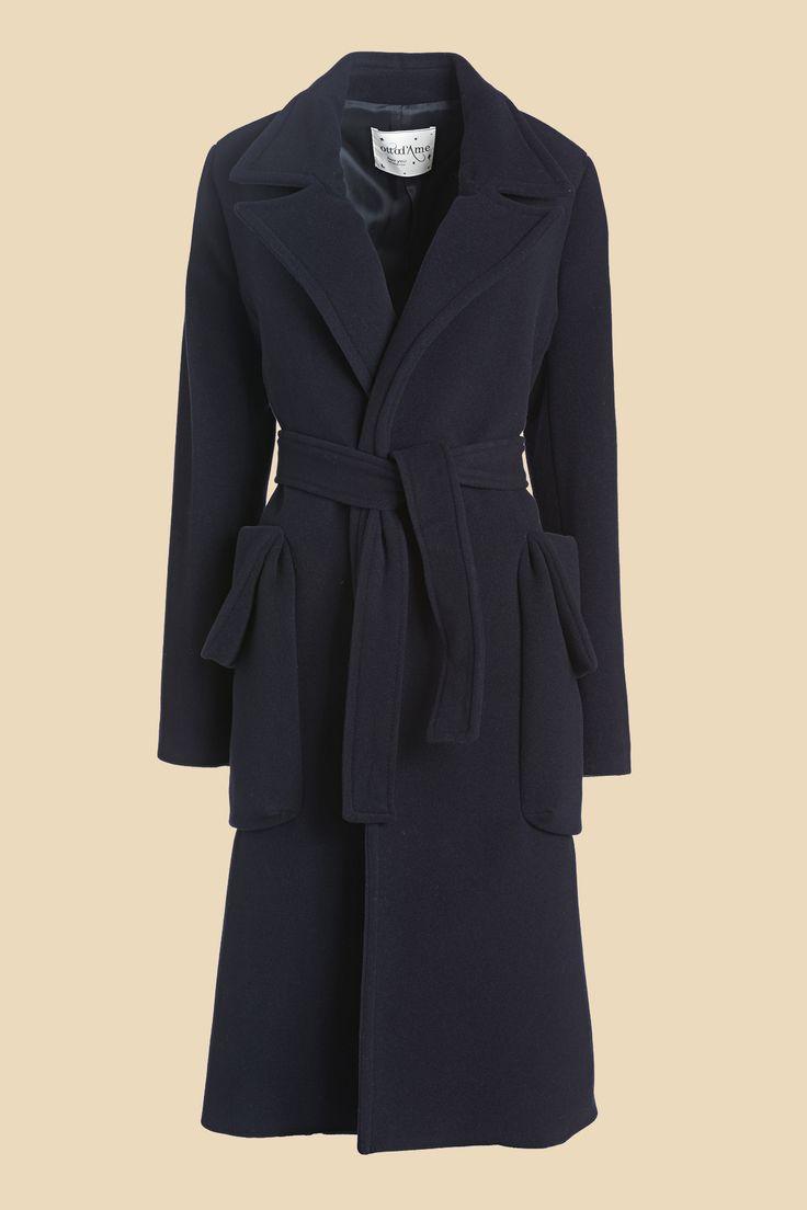Cappotto in misto lana e cachemire con cintura in vita