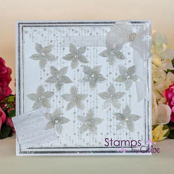 Stamps By Chloe - Beaded Flower Border - CraftStash
