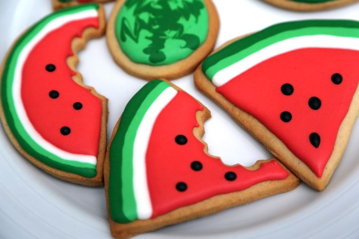 Watermelon sugar cookies - inspired by summertime's best treat!