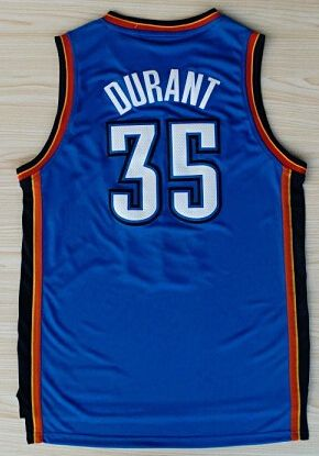Wholesale Men's Kevin Durant Jersey Navy Blue White Cheap Stitched 2016 New Orange #35 Kevin Durant College basketball Jerseys-018