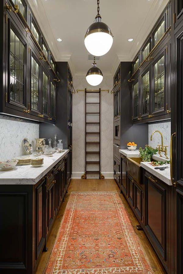 13 Gorgeous Small Kitchen Ideas To Pin Immediately Galley Kitchen Design Galley Style Kitchen Galley Kitchens