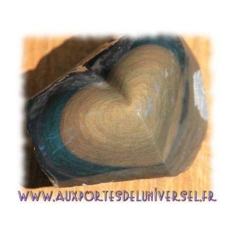 Coeur semi-brut en Obsidienne oeil céleste sur la boutique ésotérique en ligne Aux Portes de l'Universel