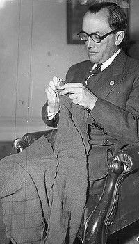 Tom Mitchell: Adventurer, politician, teller of tales - and a dab hand with knitting needles.