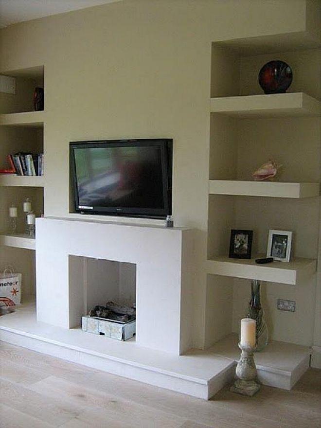 alcove floating shelves living room two pinterest. Black Bedroom Furniture Sets. Home Design Ideas