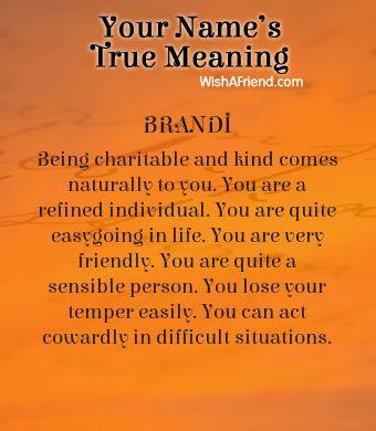 Name true meaning of Brandi