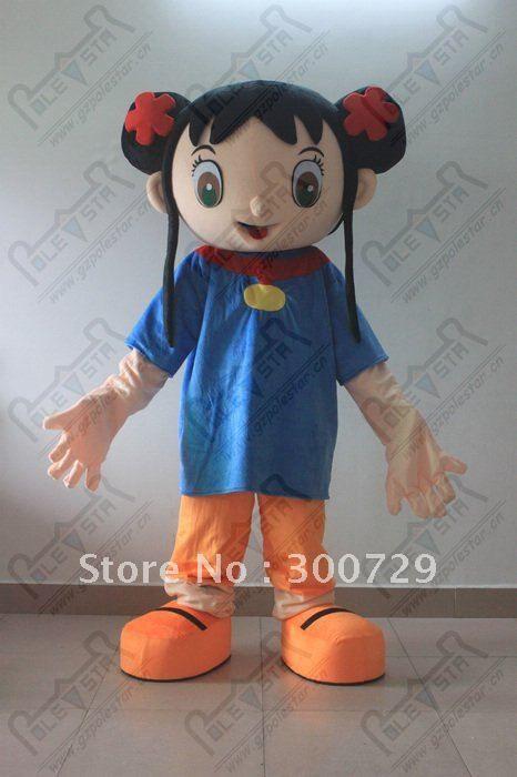 ni hao kai lan costume hot sale little girl mascot costumes