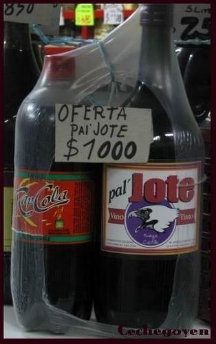 Jote Chileno (coca con vino tinto)