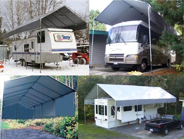 1000 ideas about portable carport on pinterest garage for Portable rv garage