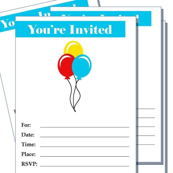 Blank Party invitation