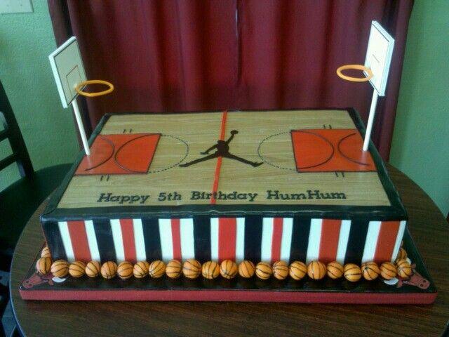Jordan basketball cake Basketball cake ideas for Rollie's birthday.
