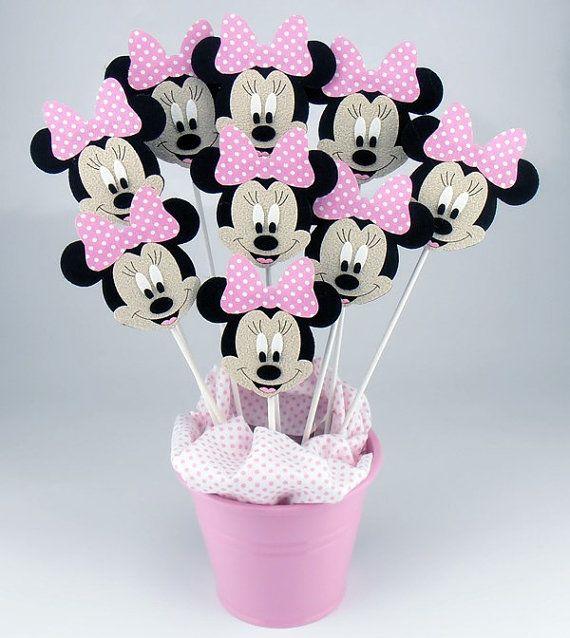 Fühlte mich Minnie Mouse Mittelstücke auf einem Stick von KeceSus