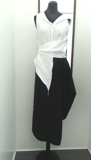 MODC linen top and skirt.