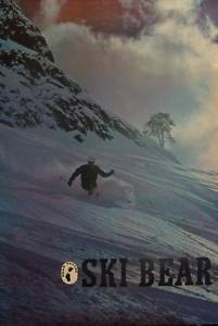 vintage ski poster - BEAR VALLEY CALIFORNIA 70's