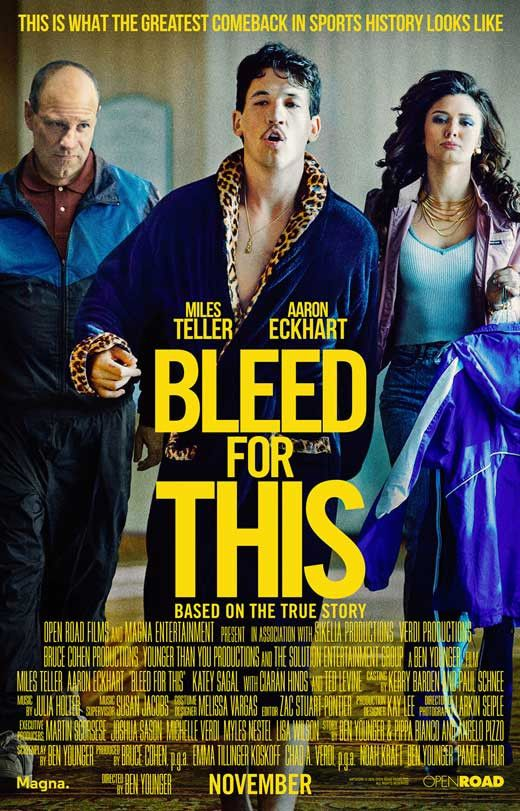 Bleed for This (2016) 27x40 Movie Poster