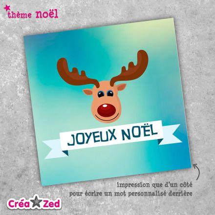 #Carte de #noël originale avec le joli #renne - enveloppe comprise