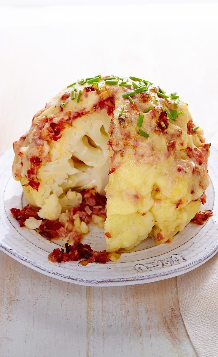 Chou-fleur au jambon et au fromage #Moisdelanutrition