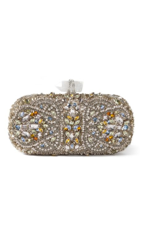 Marchesa Lily Embroidered Clutch