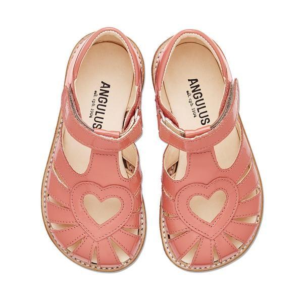 Angulus korall hjerte sandal – Hola Lola #childrensshoes #kids #shoes #holalola_no