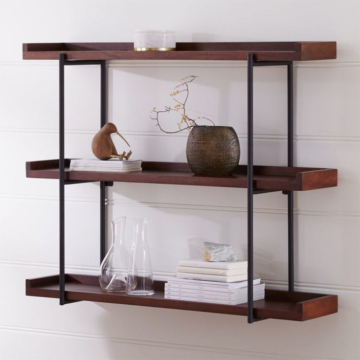 Beckett 48 3tier wall shelf sable reviews crate and