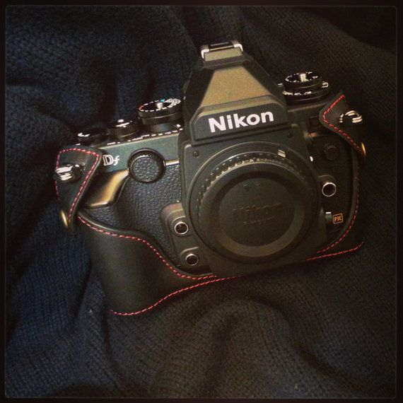 Nikon DF leather case , black half case
