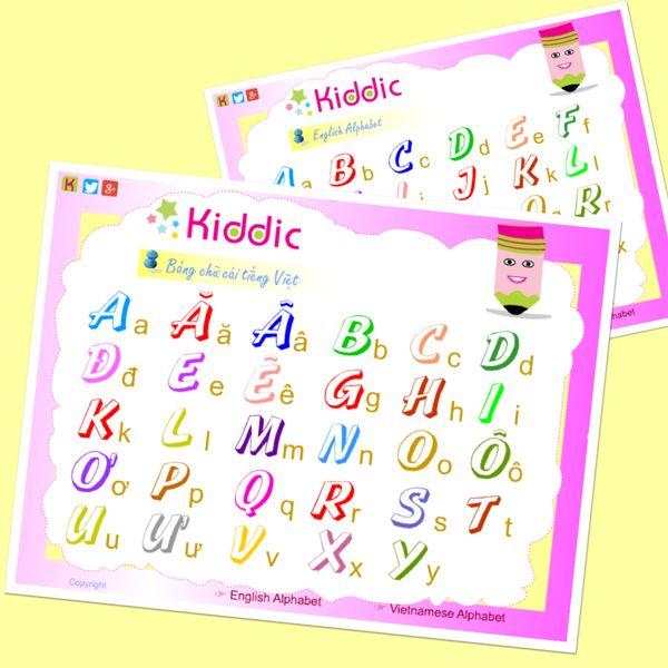 Practice the English & Vietnamese Alphabet http://www.blog.kiddic.com/2014/07/the-english-vietnamese-alphabet.html