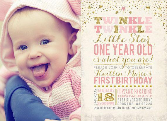 Twinkle Twinkle poco estrellas invitación de por partymonkey