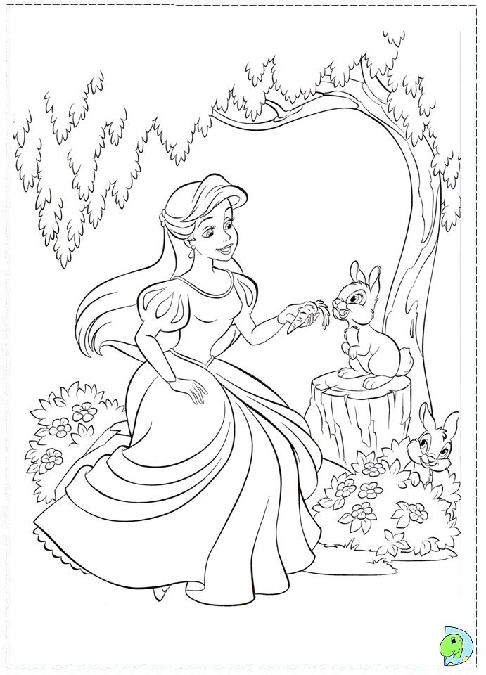 59 best de kleine zeemeermin images on pinterest coloring books coloring pages and vintage - Image d ariel la petite sirene ...