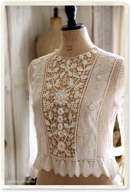 hmmm, maybe with something behind the lace?