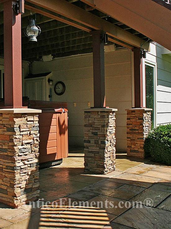 25 b sta stone columns id erna p pinterest altaner for Patio pillars