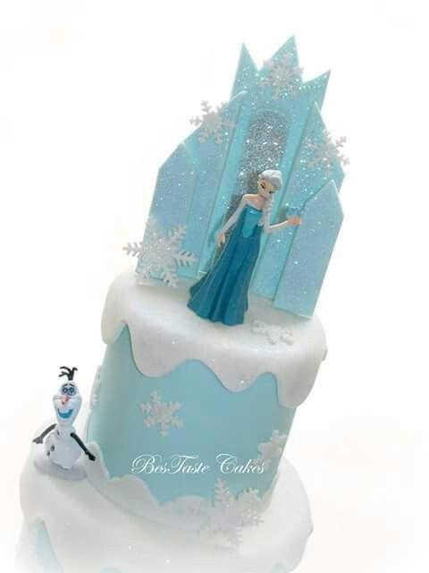 Frozen castle cake topper.