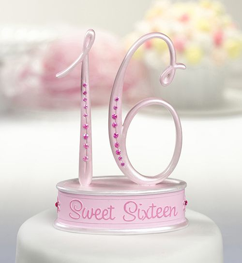 Sweet Sixteen Caketop. Great Cake Topper For Your Special Sweet Sixteen. www.ceceliasbestwishes.com