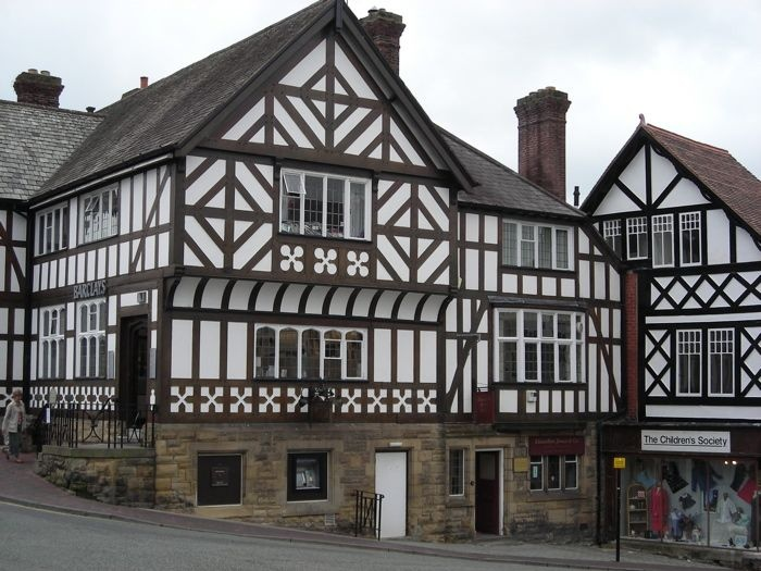 medieval buildings St Peters Square Ruthin