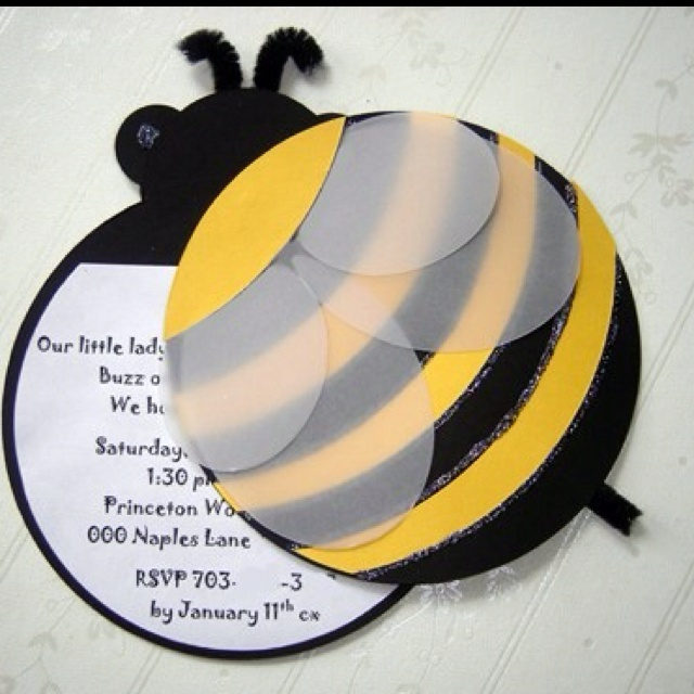 Adorable bee invite by Bridal Bijou on Etsy