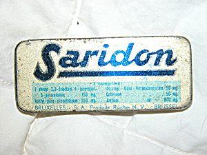 ANTIQUE DUTCH ART DECO ERA MINIATURE SARIDON ASPIRIN TIN.