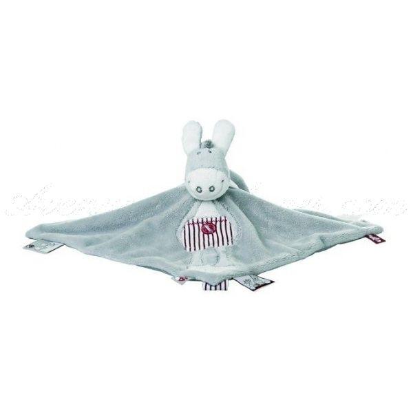 Doudou Paquito - Noukies : un doudou #Noukies original à présenter avec une parure de bain gris perle pour faire un cadeau de naissance.