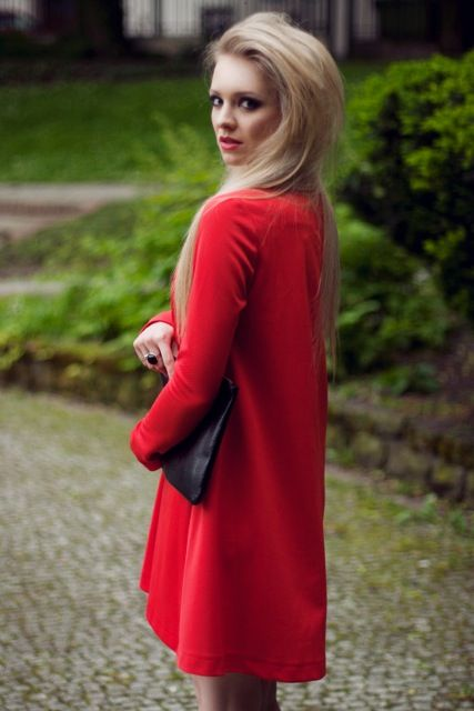 Basia Kurdej - Szatan in red Sangria dress by Melismee :)