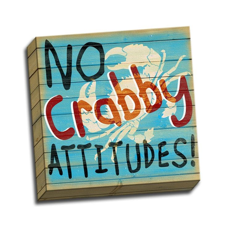 A great crabby beach house or tiki bar sign. #CrabSign